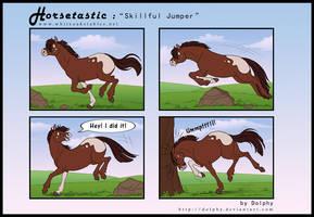 Horsetastic - Skillful Jumper by DolphyDolphiana
