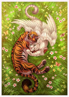 Tiger Embrace by DolphyDolphiana