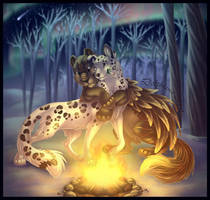 By the Campfire by DolphyDolphiana