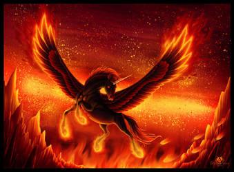 Fiery Steed by DolphyDolphiana