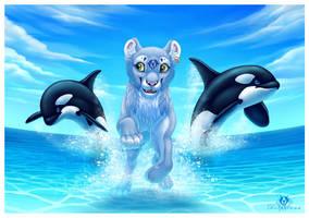 Orca Friends by DolphyDolphiana