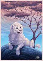 White Lion by DolphyDolphiana