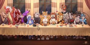 Furry Group Dinner by DolphyDolphiana