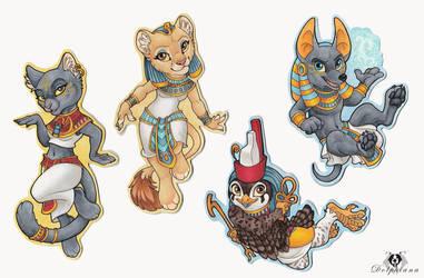 Egyptian Gods Chibis by DolphyDolphiana