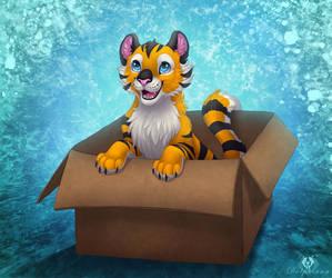'I like my box!' :3 by DolphyDolphiana