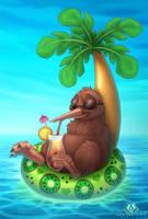 Holiday Kiwi by DolphyDolphiana