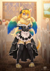 Lovely Maid by DolphyDolphiana