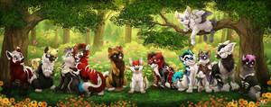 Puppy Group by DolphyDolphiana