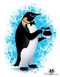 Penguin Coffee by DolphyDolphiana