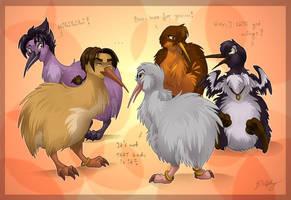 The Kiwi Gang by DolphyDolphiana