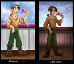 Jim and Morph - Now and Then by DolphyDolphiana