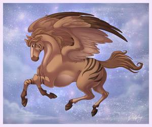 Striped Pegasus by DolphyDolphiana