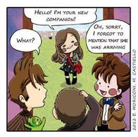 Comic Who - The New Companion by elisamoriconi