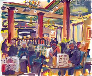 Sketch - Baron Cadogan Pub by elisamoriconi