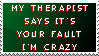 Therapy Stamp by AngelTigress03