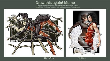 Draw me again Black Widow by Nephtis
