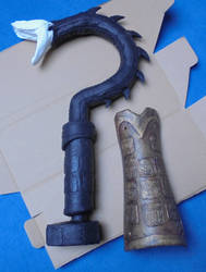 WIP Mace and Bracers by Nephtis