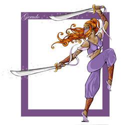 Gerudo Sword Dancer by Nephtis