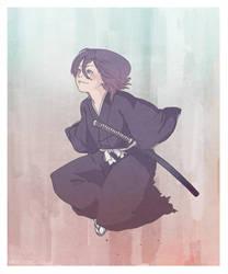 kuchiki rukia - Leap. by meiwren
