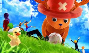 One Piece - Baseball by meiwren