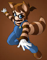 Raccoon Tail Mario by Kevichan