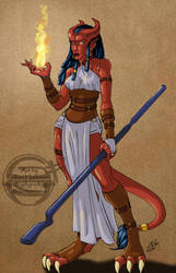 062910 Tiefling Wizard by GillyPerkyGoth