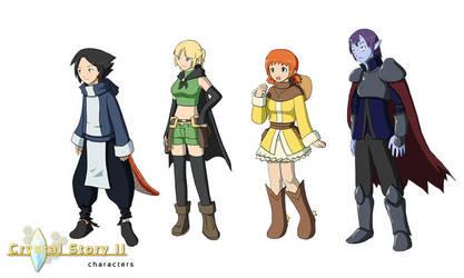 Crystal Story II Characters by Lan14n