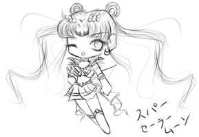 Chibi Super Sailor Moon by usilionpope