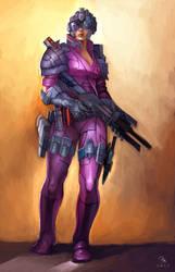 Sci-Fi Warrior by MilonasDionisis