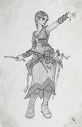 Elf wizard WIP by MilonasDionisis