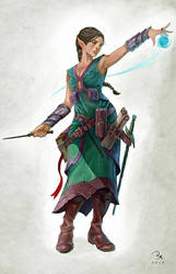 Elf wizard private commission by MilonasDionisis
