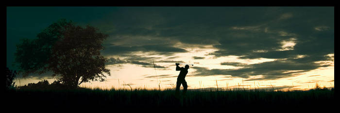 Midnight Golfer by monochromic