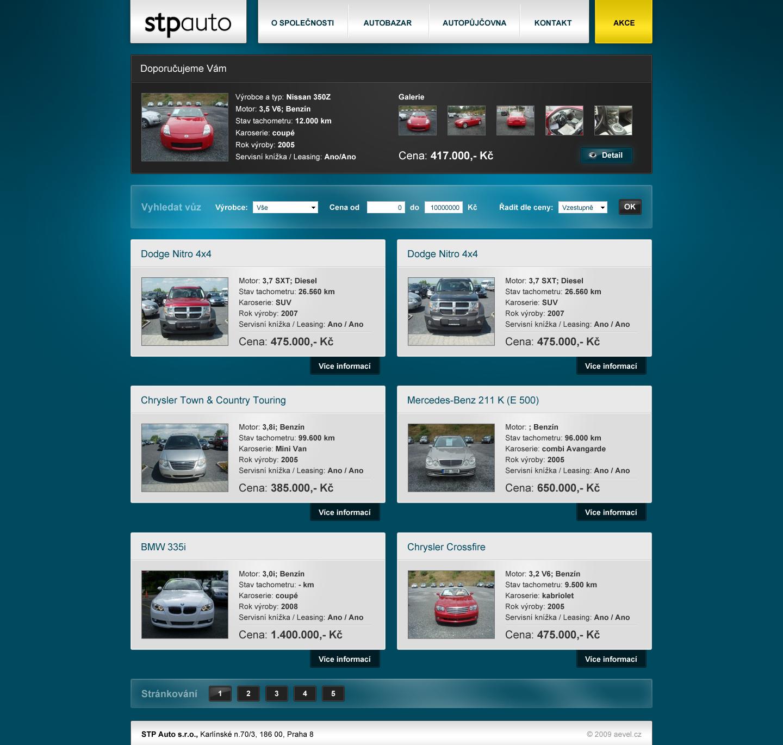 Car bazaar, salon webdesign by aevel