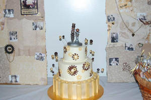 Steampunk Wedding Cake by veririaa