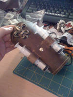 Steampunk Leather Medic Bracer by veririaa