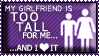 Tall Girlfriend Stamp by el-Jimmeister