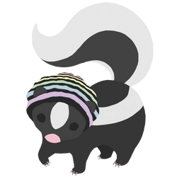Fable the skunk by RainComa