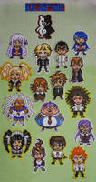 Dangan Ronpa hama-beads characters - giveaway open by LauraPex