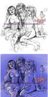 Drunken OCs by LauraPex