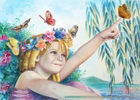 Perla - I love butterflies! by LauraPex