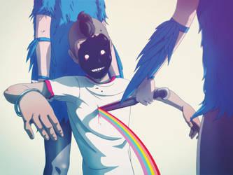 Pretty Please: Oh Blue Bird 02 by raccoonnook