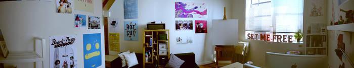 Open Studio Panorama 02 by raccoonnook