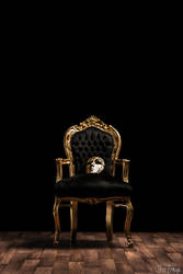 Mask on golden Chair by TheSh4dowD4ndy