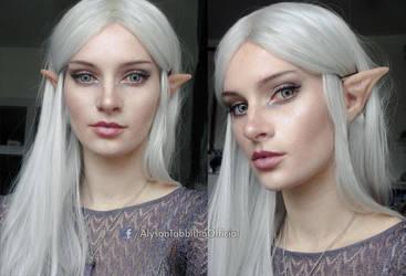 Elvish makeup look by AlysonTabbitha