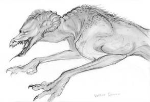 'Vulture' Demon Concept Sketch by Jianre-M