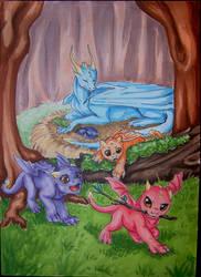 Baby Dragons - Califur 2015 Exclusive by Jianre-M