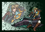 Link x Midna - Color by Jianre-M