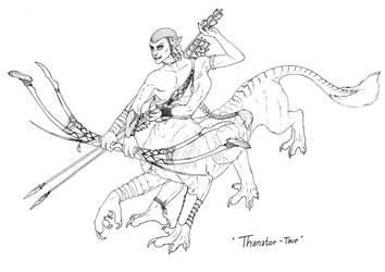 Thanator-taur Commission - Ink by Jianre-M