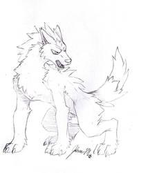 Sketch Request - Pokemon Werewolf by Jianre-M