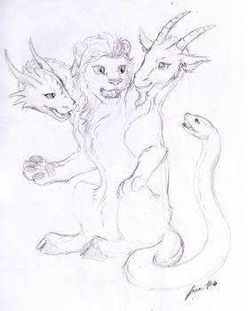 Sketch Request - Chimera by Jianre-M